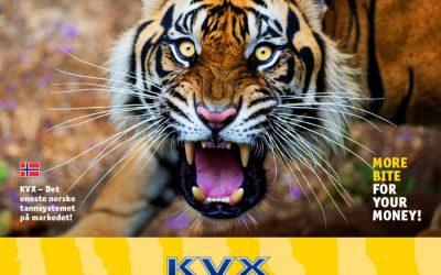 Konverteringskampanje på KVX vendbart tannsystem